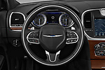 Car pictures of steering wheel view of a 2017 Chrysler 300C Platinum 4 Door Sedan Steering Wheel