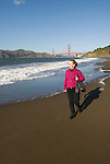 San Francisco: Baker Beach with Golden Gate Bridge in background.  Photo # 2-casanf76340.  Photo copyright Lee Foster