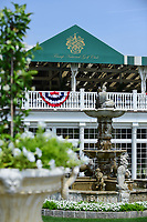 Large potted flowers and beautiful fountains adorn the grounds of Trump National Golf Club during Wednesday's preview of the 72nd U.S. Women's Open Championship, at Trump National Golf Club, Bedminster, New Jersey. 7/12/2017.<br /> Picture: Golffile | Ken Murray<br /> <br /> <br /> All photo usage must carry mandatory copyright credit (&copy; Golffile | Ken Murray)