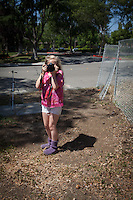 My two children visited our regular location with me for our annual photo adventure. This year the meadow had been replaced by a construction site.