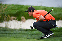 Viktor Hovland (NOR)(a) looks over his putt on 17 during round 4 of the 2019 US Open, Pebble Beach Golf Links, Monterrey, California, USA. 6/16/2019.<br /> Picture: Golffile | Ken Murray<br /> <br /> All photo usage must carry mandatory copyright credit (© Golffile | Ken Murray)