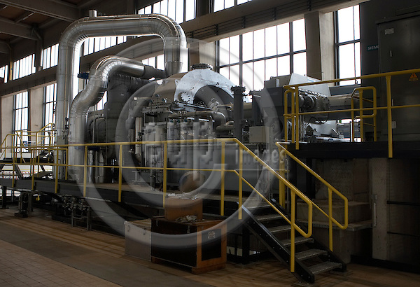 """VIENNA - AUSTRIA  16. AUGUST 2006 -- Biomass energy - The turbine to the new  wood heated combined power and heat plants, one of europes largest -- PHOTO: CHRISTIAN T. JOERGENSEN / EUP & IMAGES..This image is delivered according to terms set out in """"Terms - Prices & Terms"""". (Please see www.eup-images.com for more details)"""