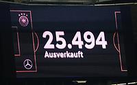 AUsverkauftes Haus in Sinsheim - 09.09.2018: Deutschland vs. Peru, Wirsol Arena Sinsheim, Freundschaftsspiel DISCLAIMER: DFB regulations prohibit any use of photographs as image sequences and/or quasi-video.