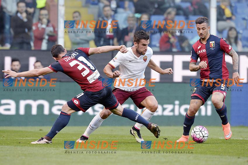 Kevin Strootman Roma, Blerim Dzemaili, Armando Izzo Genoa <br /> Genova 02-05-2016 Football Calcio Serie A 2015/2016  Genoa - AS Roma foto Image Sport/Insidefoto