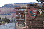 East entrance of Zion NP