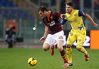 Calcio, Serie A: Roma vs ChievoVerona. Roma, stadio Olimpico, 31 ottobre 2013.<br /> during the Italian Serie A football match between AS Roma and ChievoVerona at Rome's Olympic stadium, 31 October 2013.<br /> UPDATE IMAGES PRESS/Riccardo De Luca