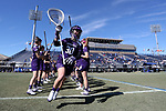 DURHAM, NC - FEBRUARY 18: Northwestern's Julie Krupnick (30). The Duke University Blue Devils hosted the Northwestern University Wildcats on February 18, 2018, at Koskinen Stadium in Durham, NC in women's college lacrosse match. Duke won the game 9-8.