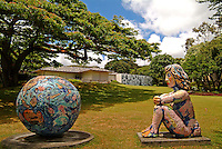 Outdoor art at the Contemporary Museum, Honolulu, O'ahu.