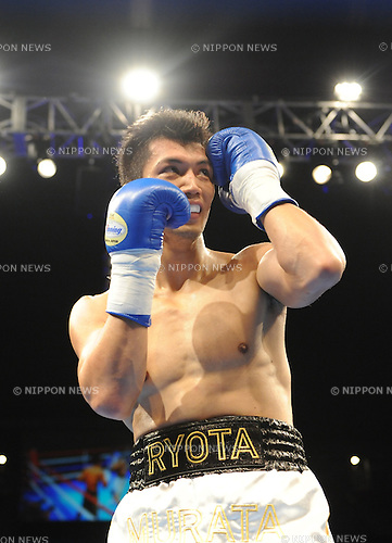Ryota Murata (JPN),<br /> AUGUST 25, 2013 - Boxing :<br /> Ryota Murata of Japan during the first round of his pro debut's 6R 73.0kg weight bout at Ariake Colosseum in Tokyo, Japan. (Photo by Mikio Nakai/AFLO)