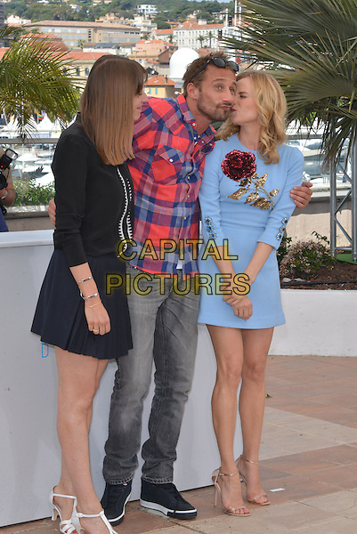Alice Winocour, Diane Kruger and Matthias Schoenaerts attend the 'Maryland' / 'Disorder' photocall during the 68th annual Cannes Film Festival on May 16, 2015 in Cannes, France.<br /> CAP/PL<br /> &copy;Phil Loftus/Capital Pictures