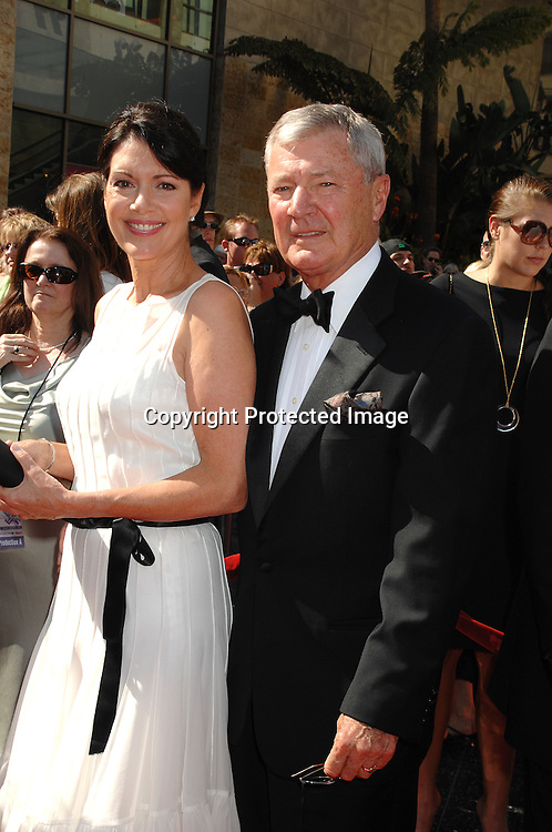Don Hastings and wife Leslie Denniston..arriving at The 34th Annual Daytime Emmy Awards on ..June 15, 2007 at The Kodak Theatre in Hollywood, California. ..Robin Platzer, Twin Images......212-935-0770