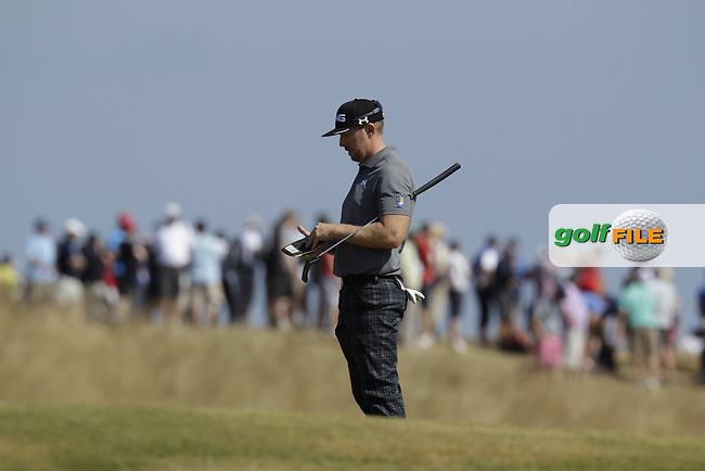 Hunter MAHAN (USA) during round two of  The 142th Open Championship Muirfield, Gullane, East Lothian, Scotland 19/7/2013<br /> Picture Eoin Clarke www.golffile.ie: