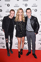 Jamie Borthwicke, Tilly Keeper and Harry Reid<br /> at the Radio 1 Teen Awards 2016, Wembley Arena, London.<br /> <br /> <br /> ©Ash Knotek  D3188  22/10/2016