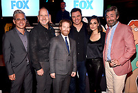 FAMILY GUY: L-R: Executive Producer/Showrunner Rich Appel, cast members Mike Henry and Seth Green, Creator/Executive Producer/Cast Member Seth MacFarlane, cast member Mila Kunis and Executive Producer/Showrunner Alec Sulkin attend the FAMILY GUY 300th Episode Celebration on Wednesday, Jan. 10, 2018 at Cicada Restaurant in Los Angeles, CA. (Photo by Frank Micelotta/FOX/PictureGroup)