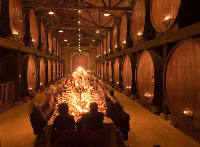 Merryvale Vineyards Cask Room dinner