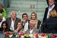 Ex futbol player Luis Figo with his wife Helen Svedin during  TPA Finals Mutua Madrid Open Tennis 2016 in Madrid, May 08, 2016. (ALTERPHOTOS/BorjaB.Hojas) /NortePhoto.com