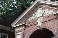 One of the gates from Massachusetts Avenue into Harvard Yard is seen at Harvard University in Cambridge, Massachusetts, USA, on Mon., Oct 15, 2018.