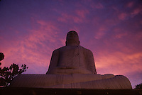 A giant Buddha statue in Kandy, Sri Lanka (1996)