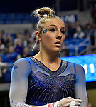 The SEC National Gymnastic Championship was held on Saturday March 24 at Chaifetz Arena on the Saint Louis University campus. Alex McMurtry of Florida before competing on the uneven bars.<br />