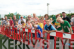 Futsol World Record Attempt : Queuing to take part in the Futsol world record attempt at Kenndy Park, Listowel  during the Listowel Celtic 50th Jubilee celebration on Saturday last.