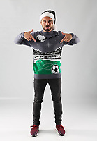 Pictured: Leon Britton<br /> Swansea City FC and Ospreys RFC Christmas photo shoot at the Fairwood Trainining Ground, near Swansea, Wales, UK. 17 October 2017