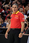 Sergio Scariolo of Spain during the Friendly match between Spain and Dominican Republic at WiZink Center in Madrid, Spain. August 22, 2019. (ALTERPHOTOS/A. Perez Meca)