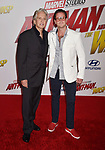 HOLLYWOOD, CA - JUNE 25: Michael Douglas (L) and Cameron Douglas arrive at the Premiere Of Disney And Marvel's 'Ant-Man And The Wasp' at the El Capitan Theatre on June 25, 2018 in Hollywood, California.