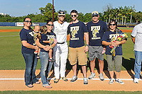 5 May 2012:  FIU infielder Mike Martinez (40) poses with family members during the Senior Day Ceremony prior to the game.  The FIU Golden Panthers defeated the Middle Tennessee State University Blue Raiders, 12-6, at University Park Stadium in Miami, Florida.
