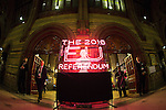© Joel Goodman - 07973 332324 . No onward sale or syndication permitted . 23/06/2016 . Manchester , UK . The entrance to the 2016 EU Referendum Count declaration room in Manchester Town Hall . Photo credit : Joel Goodman