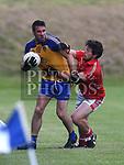 Hunterstown Rovers Padraig Mathews St. Mochtas Barry Mulholland. Photo:Colin Bell/pressphotos.ie