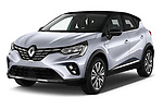 2020 Renault Captur Initiale Paris 5 Door SUV angular front stock photos of front three quarter view