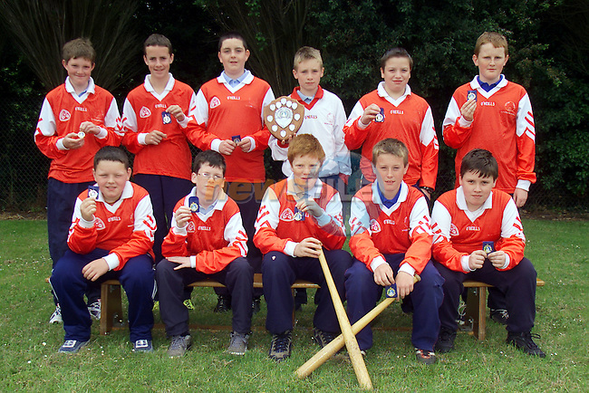 Cumann na mBunscoil, boys rounders team, D2 Meath final winners..BR L to R Jimmy Baxter, Colin Byrne, Niall Martin, Adam Woods, Darren Clarke and Lorcan Wogan..FR L to R John Paul Donegan, Donal Carrolan, Patrick Haughey, Robert Cluskey and Robert Smith..Picture: Arthur Carron/Newsfile