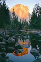 Merced River and El Capitan<br />