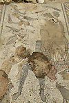 Israel, lower Galilee, the floor mosaic at a Roman villa in Zippori, deepicting Orpheus