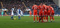 Blackburn Rovers' Charlie Mulgrew scores a free kick <br /> <br /> Photographer Rachel Holborn/CameraSport<br /> <br /> The EFL Sky Bet League One - Blackburn Rovers v Shrewsbury Town - Saturday 13th January 2018 - Ewood Park - Blackburn<br /> <br /> World Copyright &copy; 2018 CameraSport. All rights reserved. 43 Linden Ave. Countesthorpe. Leicester. England. LE8 5PG - Tel: +44 (0) 116 277 4147 - admin@camerasport.com - www.camerasport.com