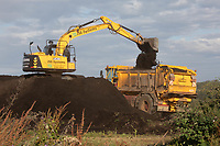 22.7.2020 Contractors spreading a blend of compost and sewage cake <br />  ©Tim Scrivener Photographer 07850 303986<br />      ....Covering Agriculture In The UK.