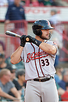 Richmond Flying Squirrels Joey Bart (33) during an Eastern League game against the Erie SeaWolves on August 28, 2019 at UPMC Park in Erie, Pennsylvania.  Richmond defeated Erie 6-4 in the first game of a doubleheader.  (Mike Janes/Four Seam Images)