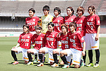 Urawa Red Diamonds Ladies team group line-up, <br /> MAY 4, 2014 - Football /Soccer : <br /> Plenus Nadeshiko League 2014 <br /> between Urawa Reds Ladies 1-3 Okayama Yunogo Belle <br /> at Saitama Urawa Komaba Stadium, Saitama, Japan. <br /> (Photo by AFLO SPORT) [1205]