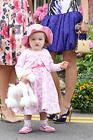 5/8/2010.Blossom Hill Ladies Day. 1 year old Felicity Mc Guinness from Rush is  pictured at the Blossom Hill Ladies Day at the Fáilte Ireland Dublin Horse Show at RDS. Picture James Horan/Collins Photos