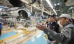 03Oct2012 - Vettel visits Nissan Manufacturing Plant