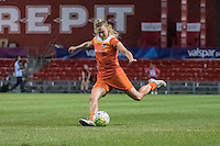 Bridgeview, IL - Saturday July 23, 2016: Houston Dash midfielder Megan Crosson (25) during a regular season National Women's Soccer League (NWSL) match between the Chicago Red Stars and the Houston Dash at Toyota Park.