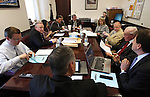 Nevada Senate Republicans work in a caucus Monday, May 30, 2011, at the Legislature in Carson City, Nev., as they face a final bill deadline. Bills not passed by Monday's deadline will die as lawmakers head into the final days of the session. .Photo by Cathleen Allison