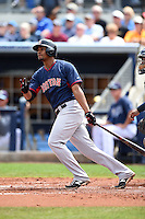 Boston Red Sox shortstop Xander Bogaerts (2) during a spring training game against the Tampa Bay Rays on March 25, 2014 at Charlotte Sports Park in Port Charlotte, Florida.  Boston defeated Tampa Bay 4-2.  (Mike Janes/Four Seam Images)
