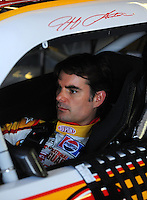 Apr 24, 2009; Talladega, AL, USA; NASCAR Sprint Cup Series driver Jeff Gordon during practice for the Aarons 499 at Talladega Superspeedway. Mandatory Credit: Mark J. Rebilas-