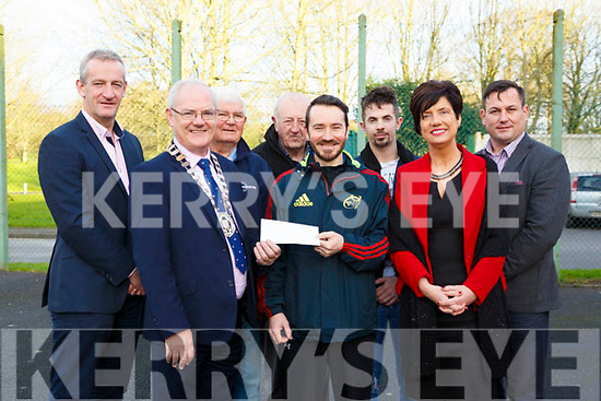 Present at the Listowel Community centre, as the centre received €15,000 for CCTV equipment, l to r: Cllr: Mike Kennelly, Cll John Lucid (Cathaoirleach Listowel Municipal District), Jim Beasley, Tony Diggins (Listowel Community Centre), Tony Diggins (Listowel Community Centre), David Murphy, Joan McCarthy (Kerry Co Council) & Andy Smith (Kerry Co Council).
