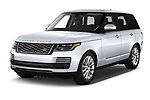 2020 Land Rover Range-Rover HSE 5 Door SUV Angular Front automotive stock photos of front three quarter view
