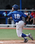 Western Nevada's Joey Crunkilton watches his ball leave the park during a college baseball game against Colorado Northwestern at John L. Harvey Field in Carson City, Nev., on Friday, April 11, 2014. <br /> Photo by Cathleen Allison/Nevada Photo Source