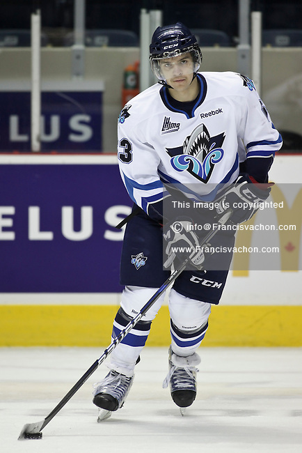QMJHL (LHJMQ) hockey profile photo on Rimouski Oceanic Petr Straka November 6, 2011 at the Colisee Pepsi in Quebec city.