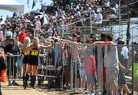 Apr 16, 2011; Surprise, AZ USA; LOORRS fans and rockstar girls during round 3 at Speedworld Off Road Park. Mandatory Credit: Mark J. Rebilas-