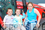 FUN: Having fun at the Kingdom County Fair at Ballybeggan on Sunday were l-r: Calum, Alannah and Jamie Warren, Lixnaw.   Copyright Kerry's Eye 2008